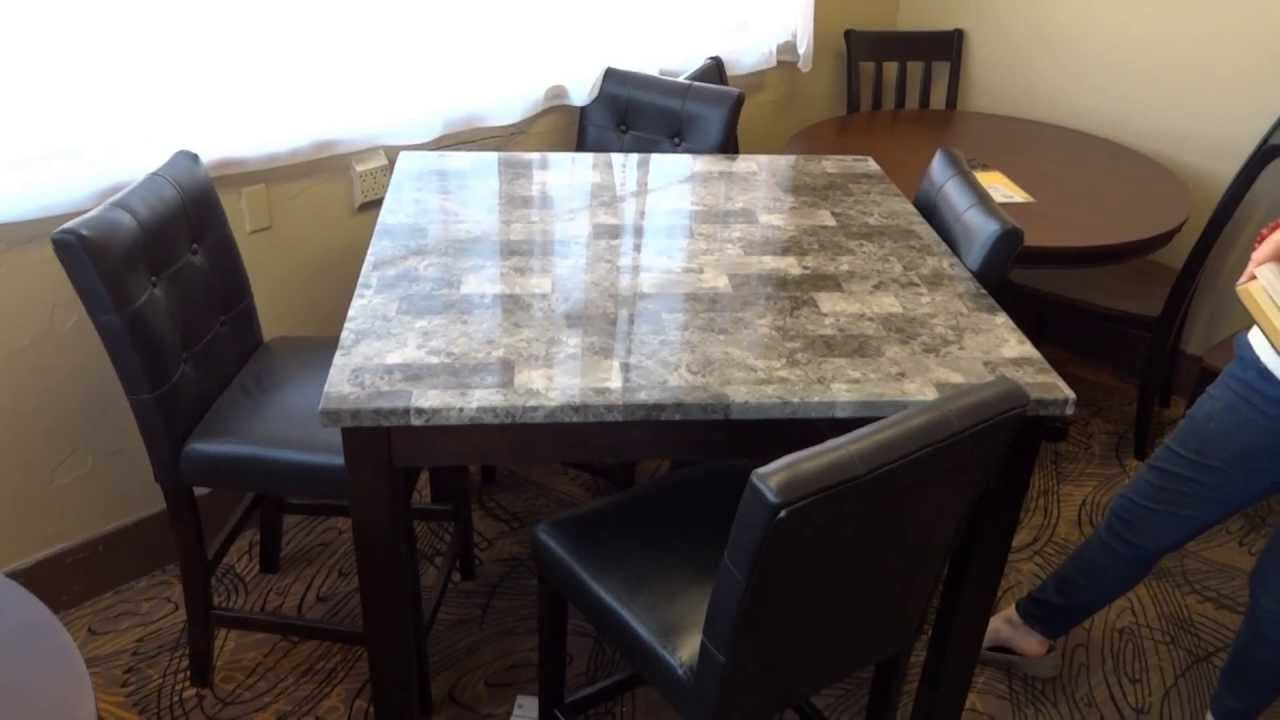 ashley furniture maysville dining table set d154 review - youtube