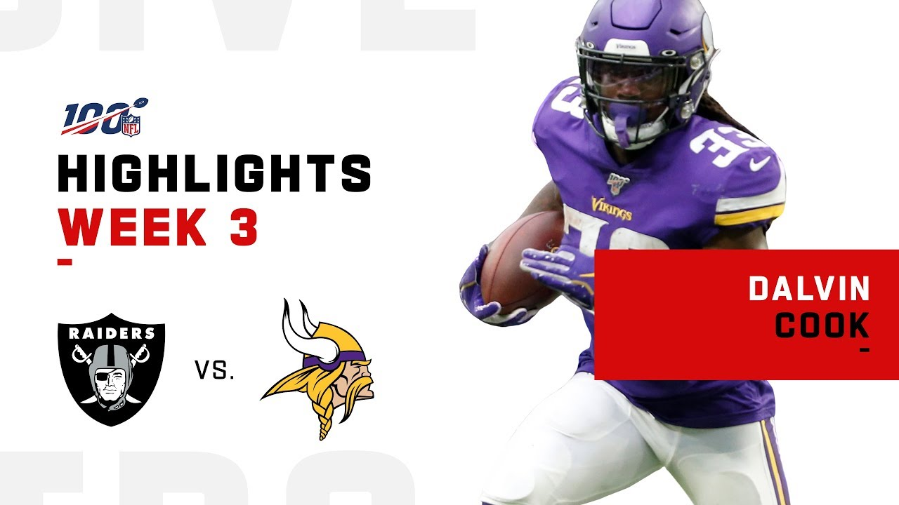 Dalvin Cook Dominates Raiders W 110 Rushing Yds Nfl 2019 Highlights