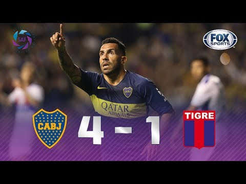 Boca Juniors - Tigre [4-1] | GOLES | Superliga Argentina Fecha 11 | FOX Sports