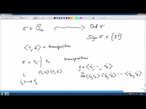 Lec50 Signature of a permutation