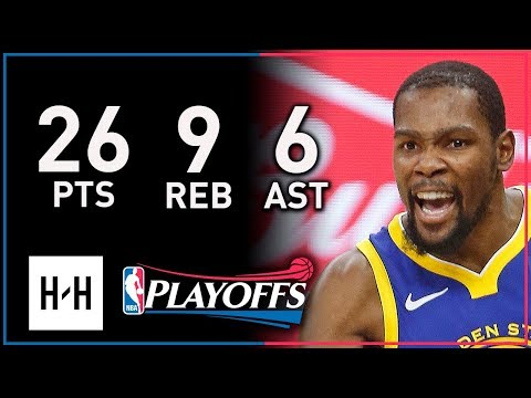 Kevin Durant Full Game 3 Highlights Warriors vs Spurs 2018 Playoffs  26 Points, 9 Reb, 6 Assists!