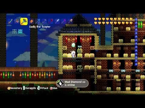 Terraria xbox 1.2 all items map w/download!