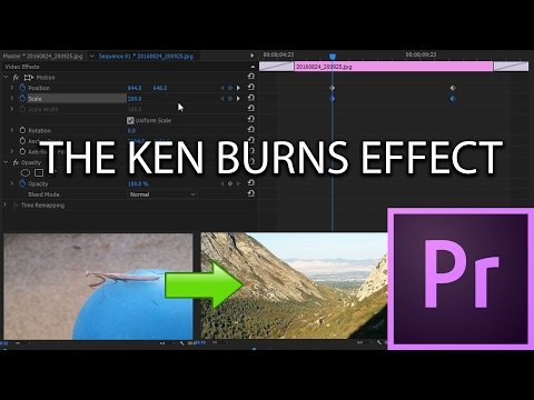 E30 - The Ken Burns Effect - Adobe Premiere Pro CC 2017