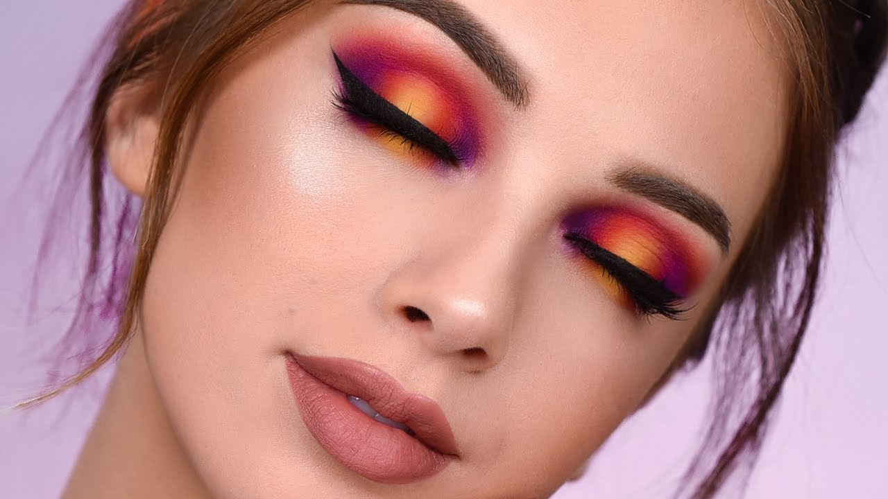 SUNSET Smokey Eye with New Power Pigments | Makeup ...