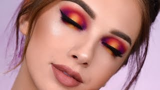 SUNSET Smokey Eye with New Power Pigments | Makeup Tutorial