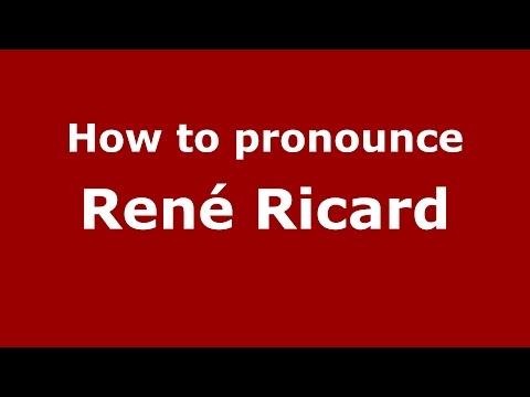 How to pronounce René Ricard American EnglishUS   PronounceNames.com