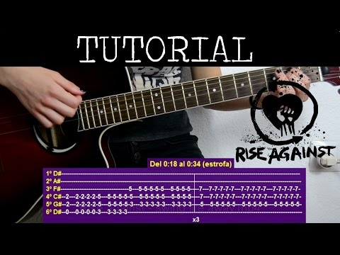 Cómo tocar Swing Life Away de Rise against (Tutorial de Guitarra) / How to play