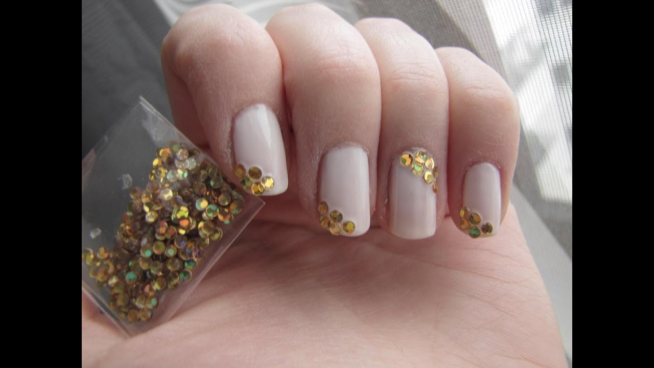 Gold \'n White Nail Art mit Vintage District LE nailart kit von ...