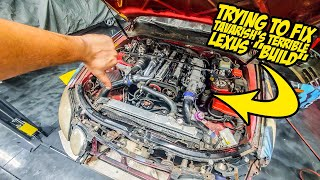 "Trying To Fix Tavarish's TERRIBLE Lexus ""Build"" (It's WAY Worse Than You Think)"