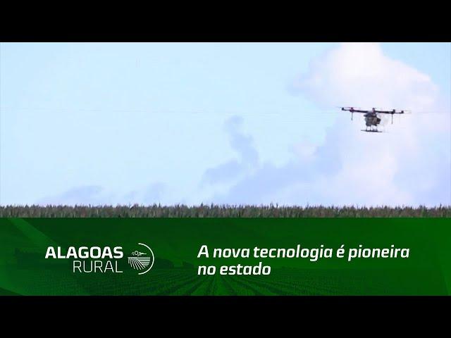 Semear realiza serviço de aplicação aérea de produtos com o uso do drone