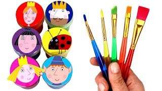 Ben and Holly Drawing with Surprise Toys Princess Holly Ben Elf Nanny Plum Gaston King Thistle Toys