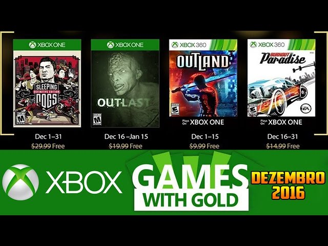 Jogos GrÁtis Xbox Live Gold De Dezembro 2016 (xbox 360 / Xbox One)