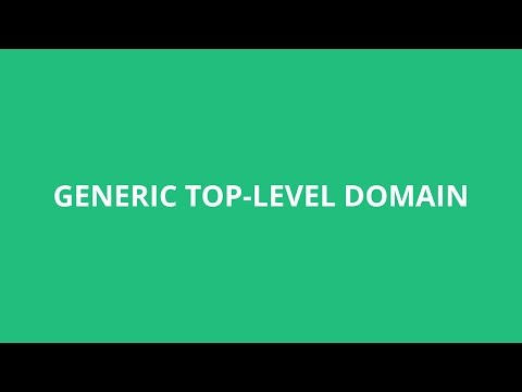 How To Pronounce Generic Top-Level Domain - Pronunciation Ac