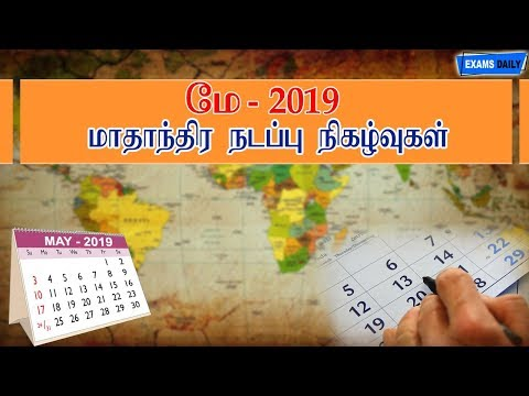 Monthly Current Affairs May 2019
