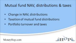 Mutual fund NAV, distributions, and taxes