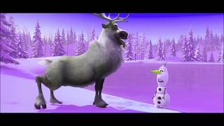 Frozen Movie Clip | OLAF and Reindeer SVEN Funniest Moment | Learn Colors