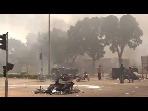 Burkina Faso parliament set ablaze in protest, emmergency declared