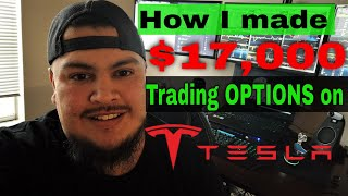 How I made $17,000 trading Tesla OPTIONS! $TSLA technical analysis