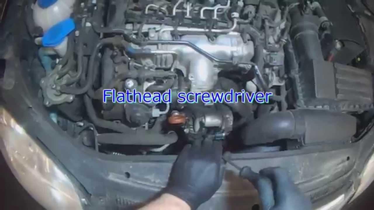 VW A5: 20L TDI Serpentine Belt Tensioner removal  YouTube