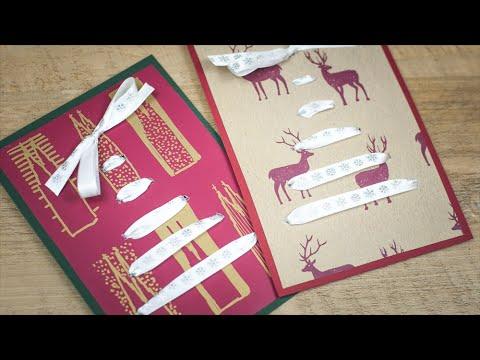 weihnachtskarte selber machen diy sch n einpacken youtube. Black Bedroom Furniture Sets. Home Design Ideas