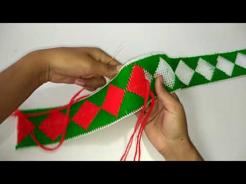 HOW TO MAKE DOOR HANGING TORAN PATTI FROM PLASTIC NET || PLASTIC NET DOOR TORAN PATTI MAKING AT HOME