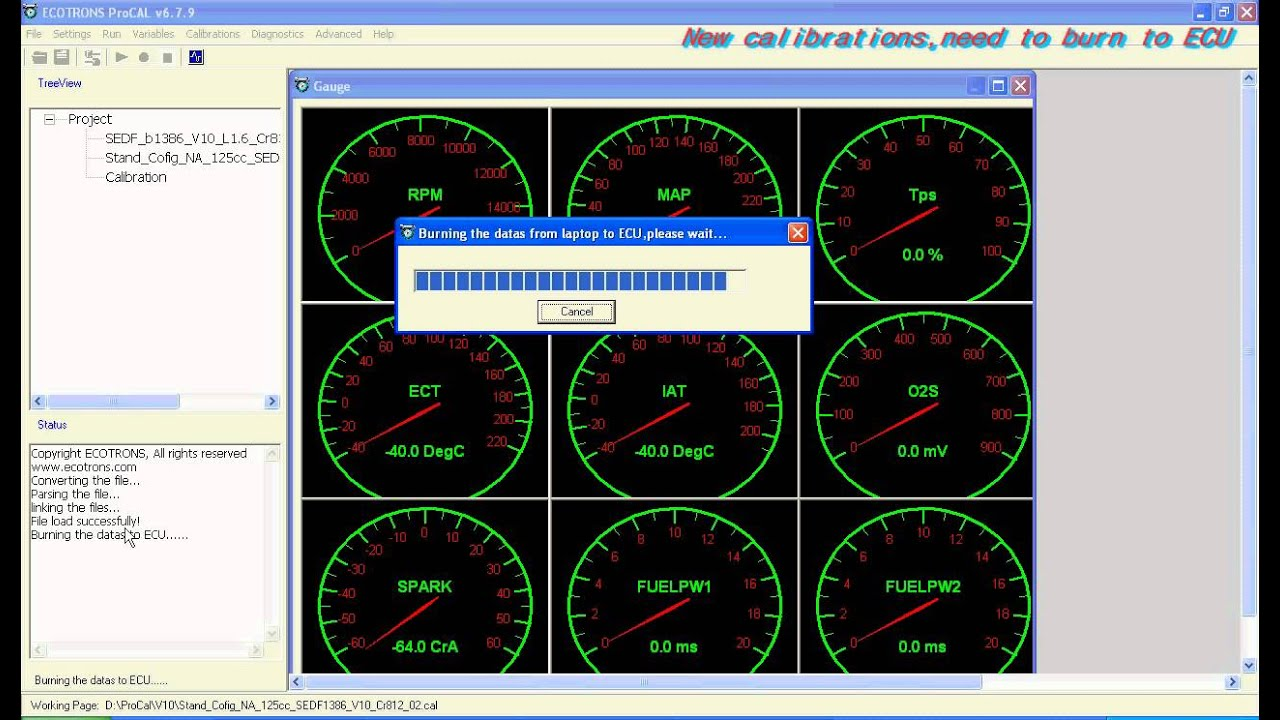 ECOTRONS EFI Tuning Software ProCAL Video Tutorial avi