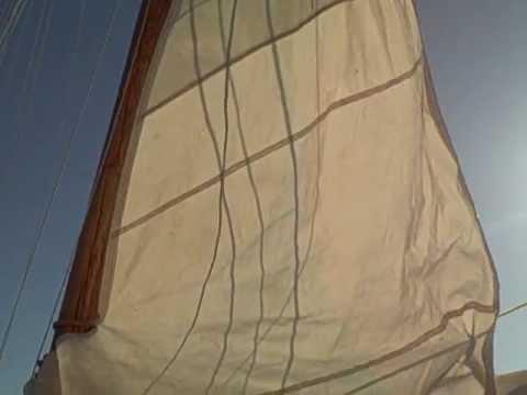 The Skipjack Rebecca T. Ruark Hoists Her Sails