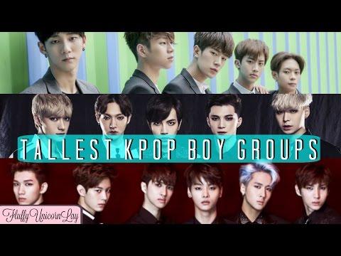 UPDATED  Tallest Kpop Boy Groups  TOP 31