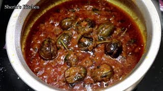பரயணகக கததரககய கரவ Brinjal Gravy For Briyani   Ennai Katharikkai Gravy
