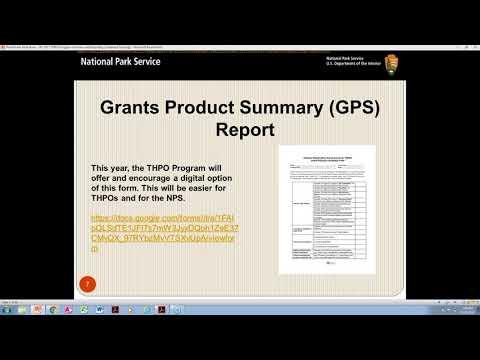 THPO Tribal Preservation Program Reports