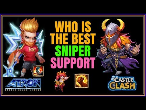 WHO IS BETTER ARIES OR MIKE GUILD WARS SNIPER SUPPORT SESSION - CASTLE CLASH