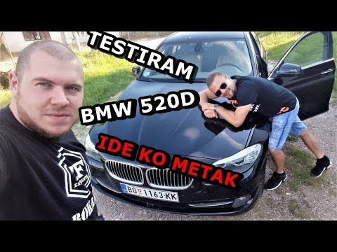 BMW 520D F10 TEST VOZNJA SA DJOMLOM KS