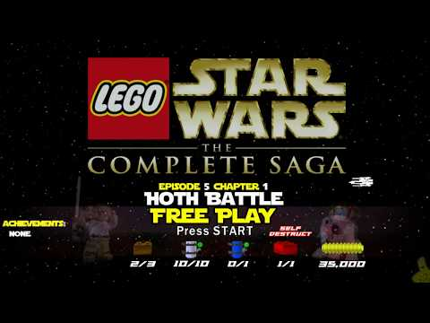 Lego Star Wars TCS: Ep 5 Chap 1 / Hoth Battle FREE PLAY (All Collectibles) - HTG