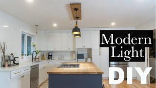Modern Kitchen Island Hanging Light Fixture   How to   DIY
