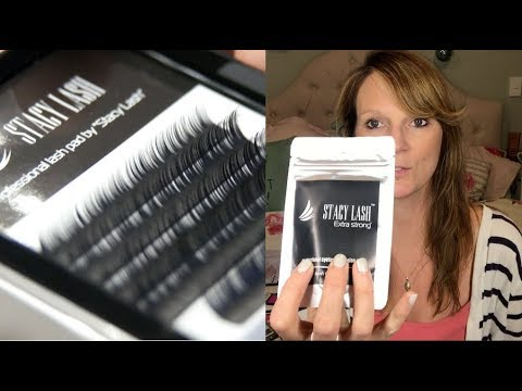 429ad20e306 Stacy Lash eyelash extensions product review - YouTube