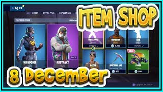 Fortnite ITEM SHOP December 8th all new SKINS and EMOTES-Playr NINE-English Fortnite EN