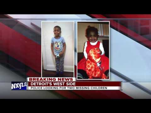 Detroit police searching for two children