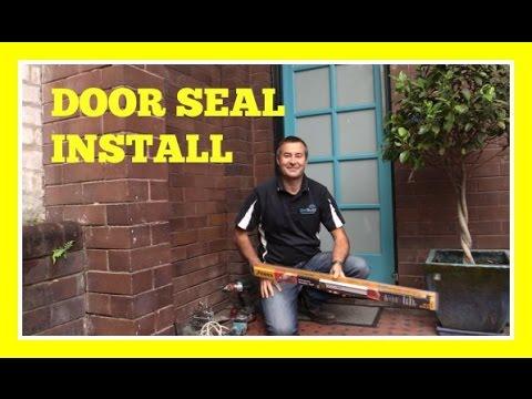 How to install a Weather Seal to the bottom of a door - YouTube How To Install Bat Door on blinds door, privacy door, driver door, welcome door,