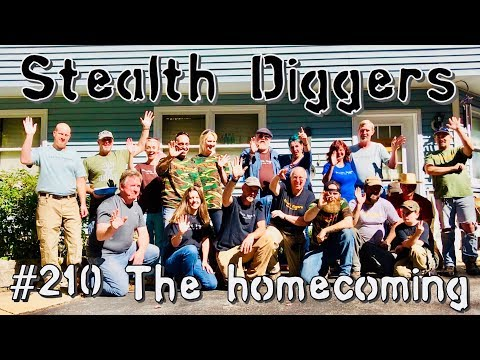 The homecoming #210 NH metal detecting group gathering dig party field hunt