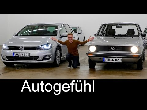 Volkswagen Golf All 7 generations! Exclusive VW comparison test review - Autogefühl