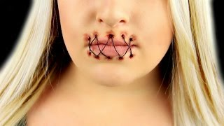 Stitched Mouth SFX Makeup Tutorial