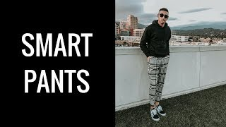 HOW I STYLE | CROPPED OVER SIZED CHECK SMART PANTS