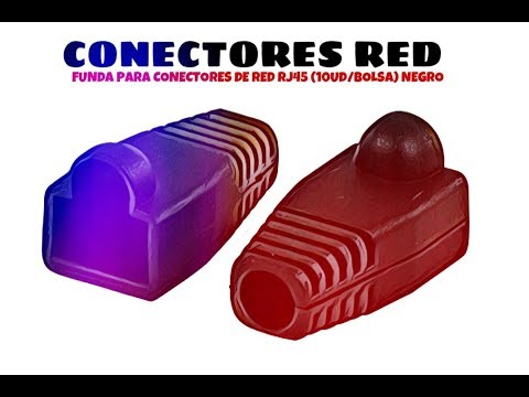 Video de Funda para conector de red RJ45 (10ud/bolsa)  Negro