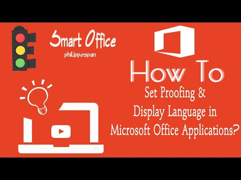 Set Proofing and Display Language in Microsoft Office 365