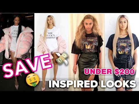 Rihanna, Beyonce and Kim Kardashian Inspired Looks for under $200