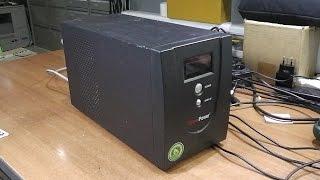 Қосылмайды. Доп. ақау емес зарядталады АКБ. ИБП(UPS) CyberPower Value 1500E-B