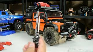 Traxxas Trx4 Defender new pumpkin covers/HiLift Jack***Tybo's RC Motorsports** Pure RC 4x4