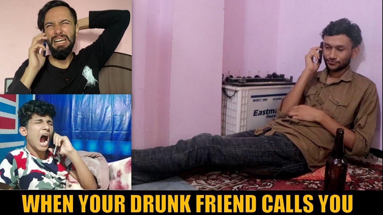 WHEN DRUNK FRIEND CALLS YOU || Ft.Saroj Bhandari ,Ganesh GD || HahahaTV Nepal