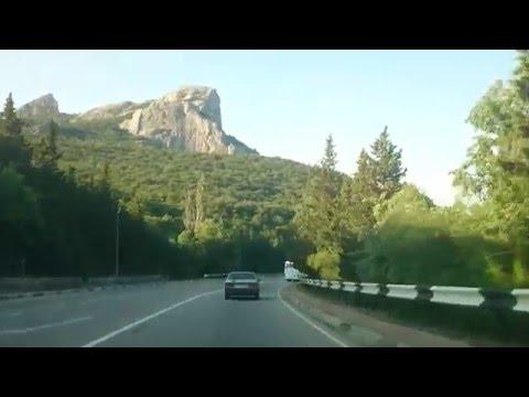 Дорога вдоль побережья Черного моря Крымского полуострова
