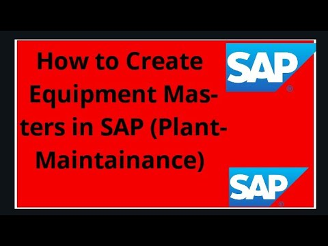 How To Create Equipment Master In Sap